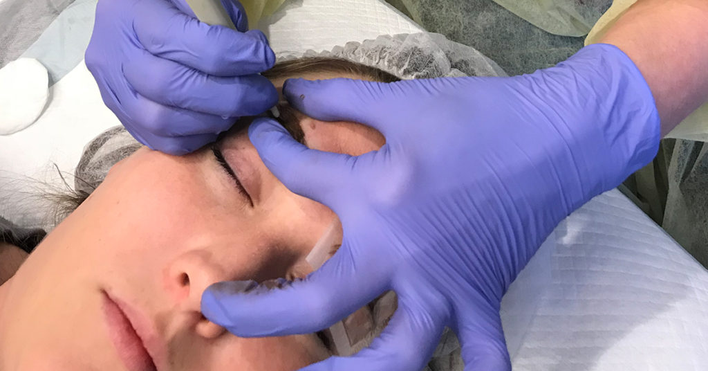 eyebrows microblading training