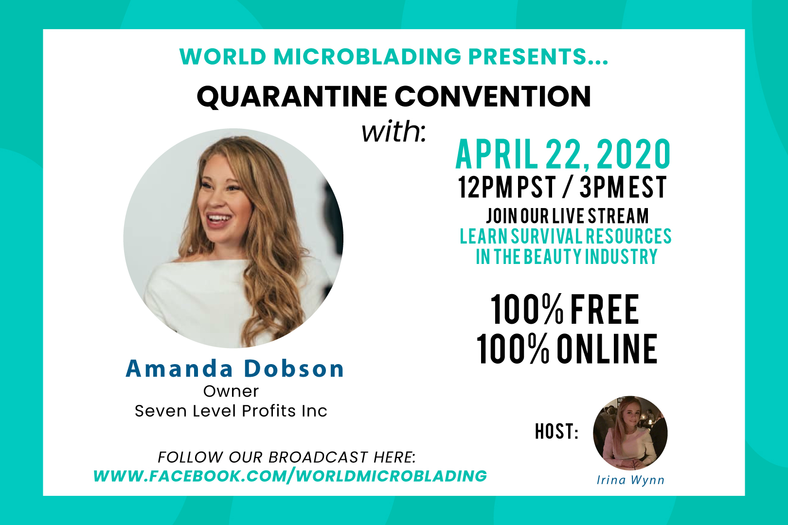 Amanda Dobson: LIVE at the Quarantine Convention for the Beauty Industry