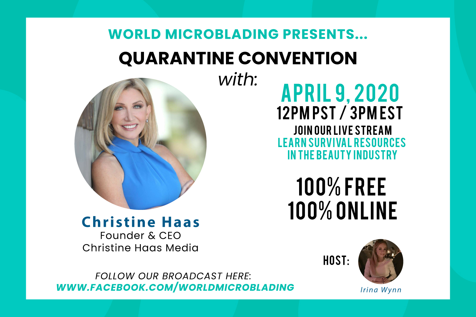 Christine Haas: LIVE at the Quarantine Convention for the Beauty Industry