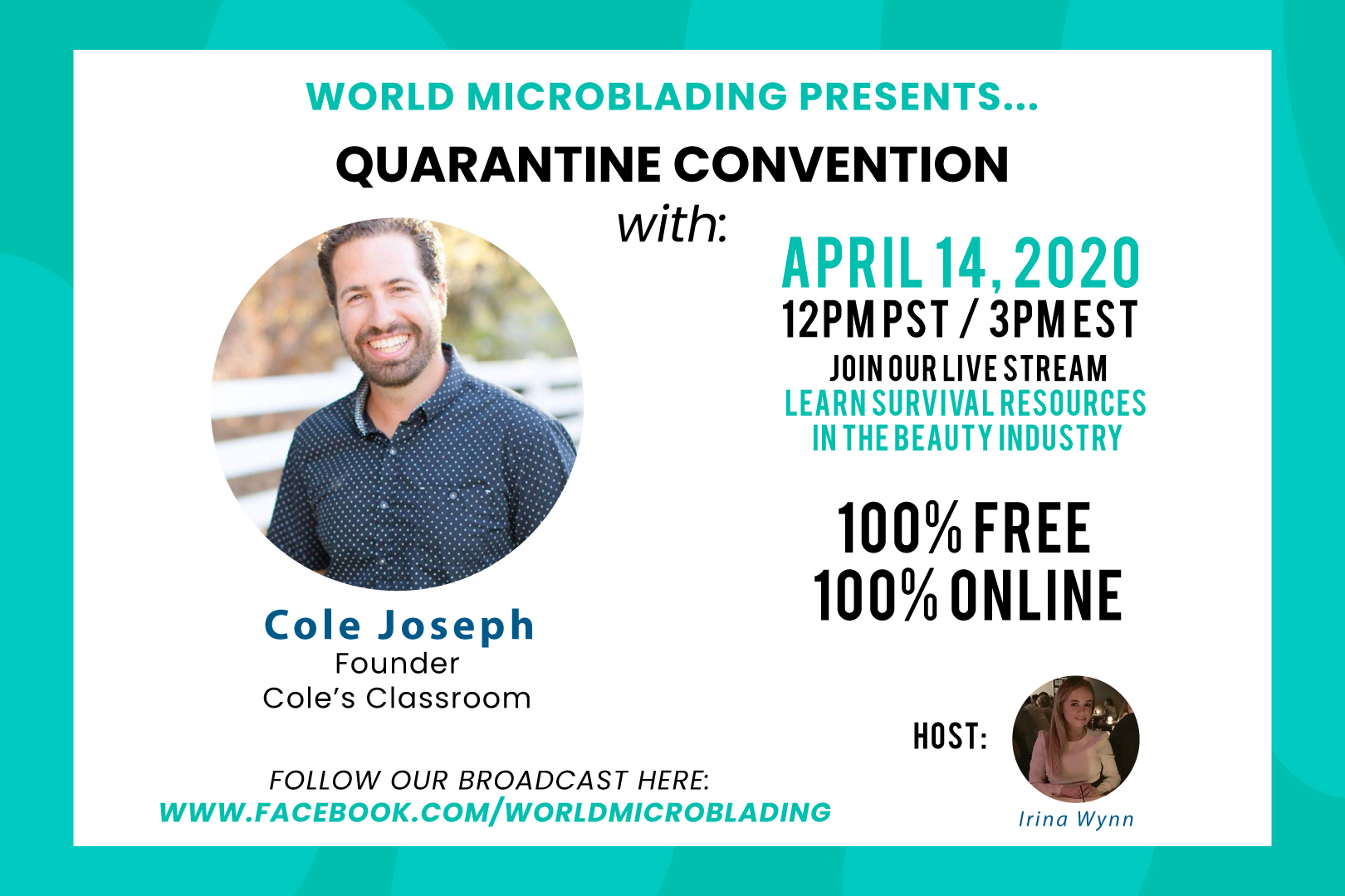 Cole Joseph: LIVE at the Quarantine Convention for the Beauty Industry