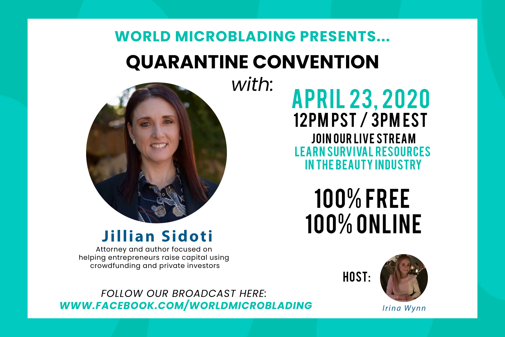 Jillian Sidoti: LIVE at the Quarantine Convention for the Beauty Industry