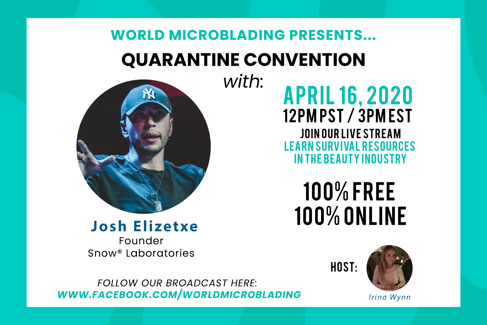 Josh Elizetxe: LIVE at the Quarantine Convention for the Beauty Industry