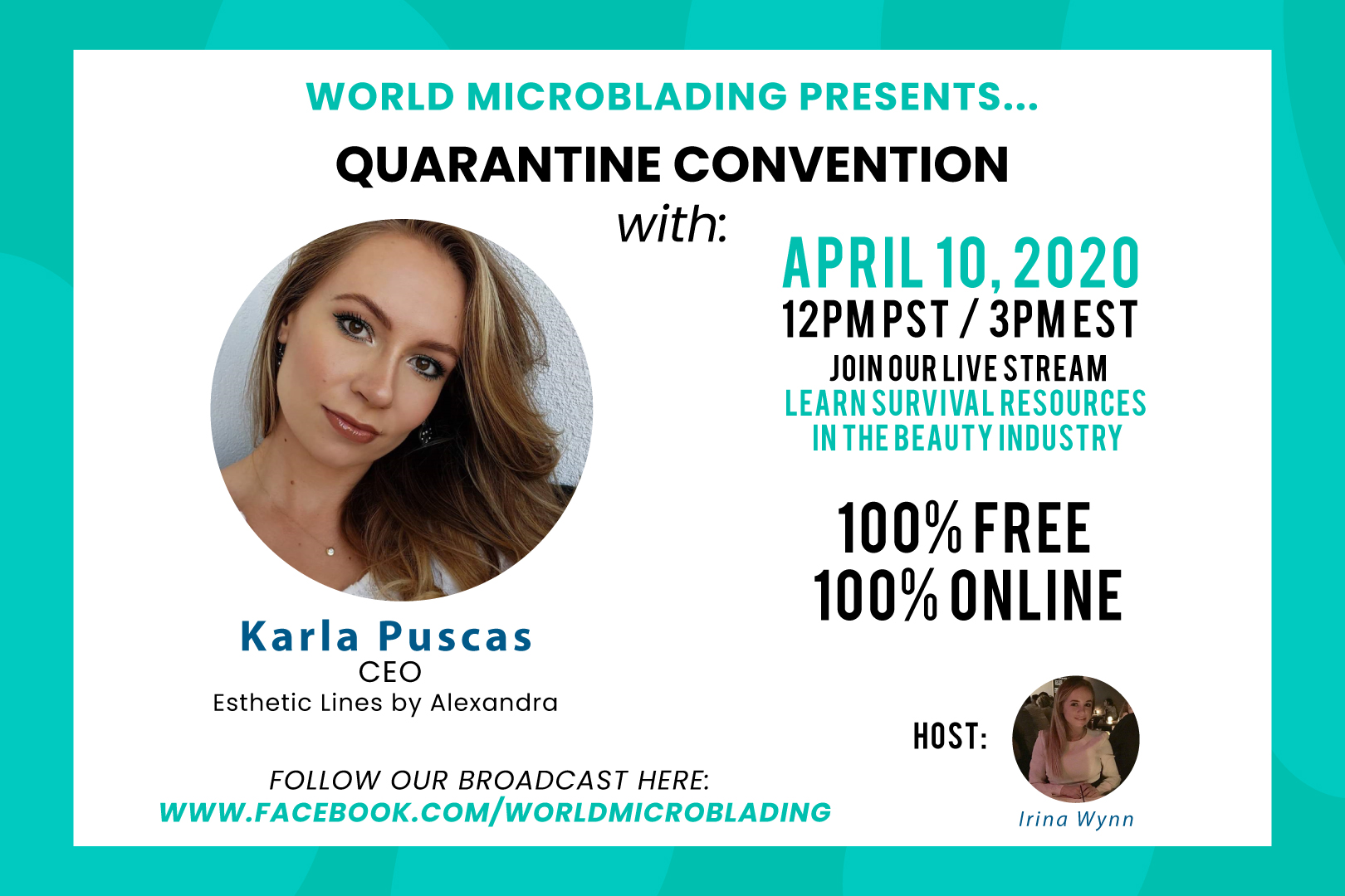 Karla Puscas: LIVE at the Quarantine Convention for the Beauty Industry