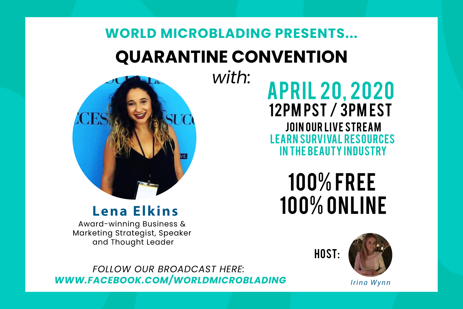 Lena Elkins: LIVE at the Quarantine Convention for the Beauty Industry